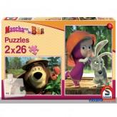 """Puzzle """"Mascha & der Bär - Im Wald"""" - 2 x 26 Teile"""