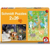 "Puzzle ""Waldtiere"" - 2 x 26 Teile"