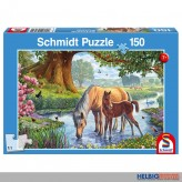 "Kinder-Puzzle ""Pferde am Bach"" 150 Teile"
