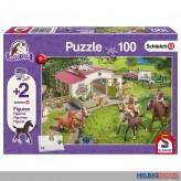 "Kinder-Puzzle ""Ausritt ins Grüne"" inkl. 2 Figuren 100 Teile"