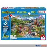 "Kinder-Puzzle ""Reich d. Dinosaurier"" inkl. Figuren 100 Teile"