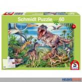 """Kinder-Puzzle """"Bei den Dinosauriern"""" - 60 Teile"""