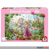 """Kinder-Puzzle """"Schöne Fee im Zauberwald"""" 200 Teile"""