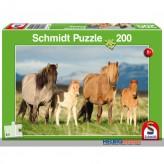"Kinder-Puzzle ""Pferdefamilie"" 200 Teile"