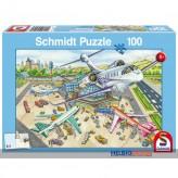 """Kinder-Puzzle """"Ein Tag am Flughafen"""" 100 Teile"""