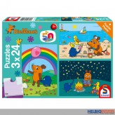 """Kinder-Puzzle 3er-Set """"Die Maus-Gute Freunde"""" - 3 x 24 Teile"""