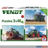 "Puzzle 3er Set ""Fendt Vario Traktoren"" - 3 x 48 Teile"