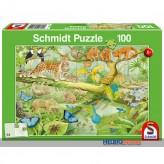 "Kinder-Puzzle ""Tiere im Regenwald"" 100 Teile"