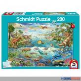 "Kinder-Puzzle ""Entdecke die Dinosaurier"" 200 Teile"