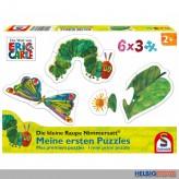 """Kleinkinder-Puzzle 6er-Set """"Raupe Nimmersatt"""" - 3x 6 Teile"""