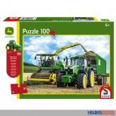 "Kinder-Puzzle ""John Deere Traktor 6195M"" m.Model 100 Teile"