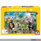 "Kinder-Puzzle ""Animal Club: Wildtiere"" 60 Teile"