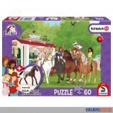 """Kinder-Puzzle """"Schleich Horse Club: Wohnwagen"""" m. Fig.100 T."""