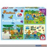 """Kinder-Puzzle 3er-Set """"Ein Tag mit der Maus"""" - 3 x 48 Teile"""