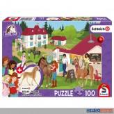 "Kinder-Puzzle ""Horse Club: Reiterhof"" m. Fig.100 Teile"
