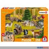 """Kinder-Puzzle """"Schleich Wild Life: Waschbären"""" m. Fig.150 T."""