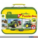 "4er Set Puzzle-Box ""Traktor John Deere"" im Koffer"