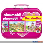 "4er Set Puzzle-Box ""Playmobil"" im Koffer"