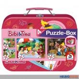 """4er Set Puzzle-Box """"Bibi & Tina"""" im Koffer"""