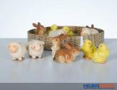 Porzellan-Oster-Tiere