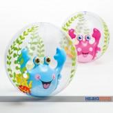 Wasserball / Beachball mit integr. Tier - 61 cm - 2-sort.
