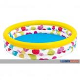 "3 Ring-Bade-Pool / Planschbecken ""Color Dots"" 114 cm - sort."
