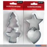 "Ausstechform 2er Set ""X-Mas"" Weihnachtsmotive - 2-sort."