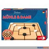 """Gesellschaftsspiel """"Mühle & Dame - 2in1 Deluxe"""""""