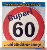 Glückwunsch-Schild - 60 Jahre