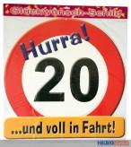 Glückwunsch-Schild - 20 Jahre