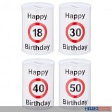 """Zahlen-Blechspardose """"Happy Birthday/Geburtstag"""" - 4-sort."""