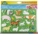 """Zeichenschablonen """"Tiere"""" inkl. Vorlagen"""