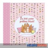 """Babyalbum """"Du bist unser größtes Glück"""" - rosa"""