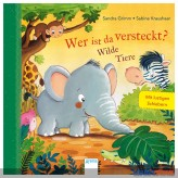 """Bilderbuch """"Wer ist da versteckt? Wilde Tiere"""" m.Schiebern"""