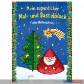"""""""Mein superdicker Mal- & Bastelblock - """"Frohe Weihnachten"""""""
