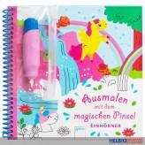 """Zauber-Malbuch """"Ausmalen mit dem magischen Pinsel"""" Einhörner"""