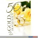 """Glückwunschkarte Goldene Hochzeit """"50"""" - Alles Liebe..."""