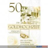 """Glückwunschkarte Goldene Hochzeit """"50"""""""