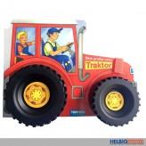"""Pappen-Bilderbuch m. Räder """"Mein großer roter Traktor"""""""