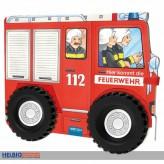 """Feuerwehr-Buch """"Hier kommt die Feuerwehr"""" auf Rädern"""