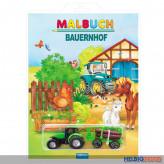 """Malbuch """"Bauernhof"""" inkl. Traktor + Anhänger"""