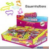 "Silikonarmband ""Buddy Bands Jumbo - Bauernhoftiere"" 6-sort."