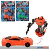 "Transformer-Roboter-Auto ""Fire-flag Warrior"" sort."