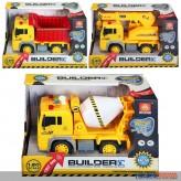 """Baustellen-Fahrzeug """"Builder"""" mit Licht & Sound - 3-sort."""
