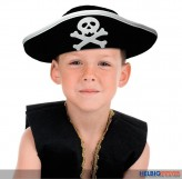 """Dreispitz-Kinder-Piratenhut """"Captain Kid"""""""