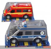 """Einsatz-Bus """"Feuerwehr & Polizei"""" m. Frikition - 2-sort."""