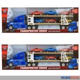 "Auto-Transporter m. 6 Autos ""Transporter Truck"" 39 cm sort."