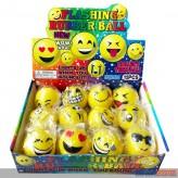 "LED-Sprungball ""Smiley Rubber LED-Ball"" sort. - Display"