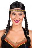 "Perücke ""Indianer"" m. Stirnband"
