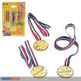 "3er-Set Medaillen ""Winner"" mit Medaillen-Umhängeband"